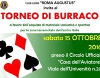 """Torneo di Burraco, del Roma Augustus, in favore dei terremotati di Amatrice"""