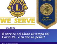 Il Service dei Lions al tempo del Coronavirus.